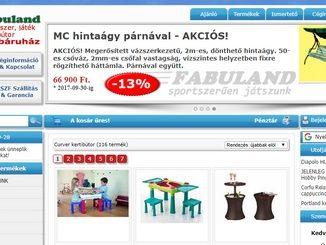 Webshopunkban játék, sport és kerti bútorokat valamint egyéb termékeket tudnak vásárolni remek árakon.